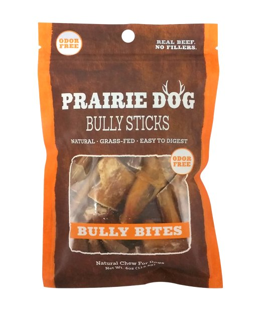 prairie dog odor free bully sticks bully bites dog treats 4 oz bag. Black Bedroom Furniture Sets. Home Design Ideas