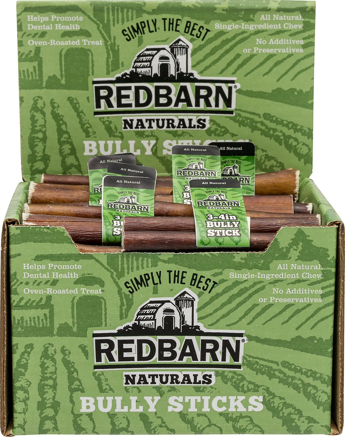 redbarn naturals bully stick 3 4 dog treat case of 65. Black Bedroom Furniture Sets. Home Design Ideas