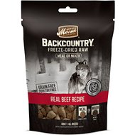 Merrick Backcountry Freeze-Dried Raw Real Beef Recipe Grain-Free Freeze-Dried Dog Food, 12.5 oz bag