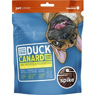 Spike Duck Grain-Free Jerky Dog Treats, 4-oz bag