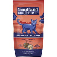 Natural Balance Wild Pursuit Beef & Lamb Meal Formula Grain-Free Dry Cat Food, 1.5-lb bag