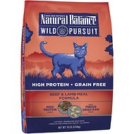 Natural Balance Wild Pursuit Beef & Lamb Meal Formula Grain-Free Dry Cat Food, 10-lb bag