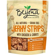 Purina Beyond Jerky Strips with Chicken & Carrots Grain-Free Dog Treats, 9-oz bag