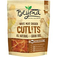 Purina Beyond Cutlets White Meat Chicken Grain-Free Dog Treats, 9-oz bag