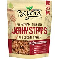 Purina Beyond Jerky Strips with Chicken & Apples Grain-Free Dog Treats, 9-oz bag