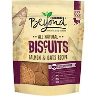 Purina Beyond Biscuits Salmon & Oats Recipe Dog Treats, 9-oz bag