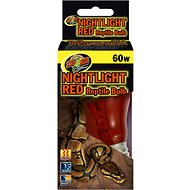 Zoo Med Nightlight Red Reptile Lamp, 60-Watt
