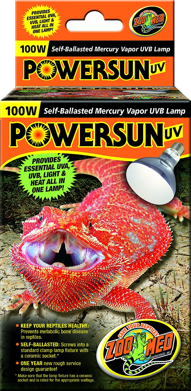 Zoo med powersun uv mercury vapor reptile lamp 100 watt chewy video arubaitofo Choice Image