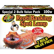 Zoo Med Repti Basking Reptile Spot Lamp, 100-Watt, 2-count