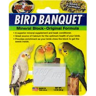 Zoo Med Bird Banquet Original Formula Mineral Block Beak Conditioner, 1-block