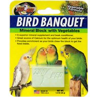 Zoo Med Bird Banquet Vegetable Formula Mineral Block Beak Conditioner, 1-block