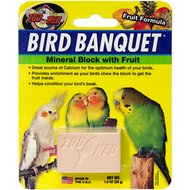 Zoo Med Bird Banquet Fruit Formula Mineral Block Beak Conditioner, 1-block