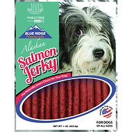 Blue Ridge Naturals Alaskan Salmon Jerky Dog Treats, 1-lb bag