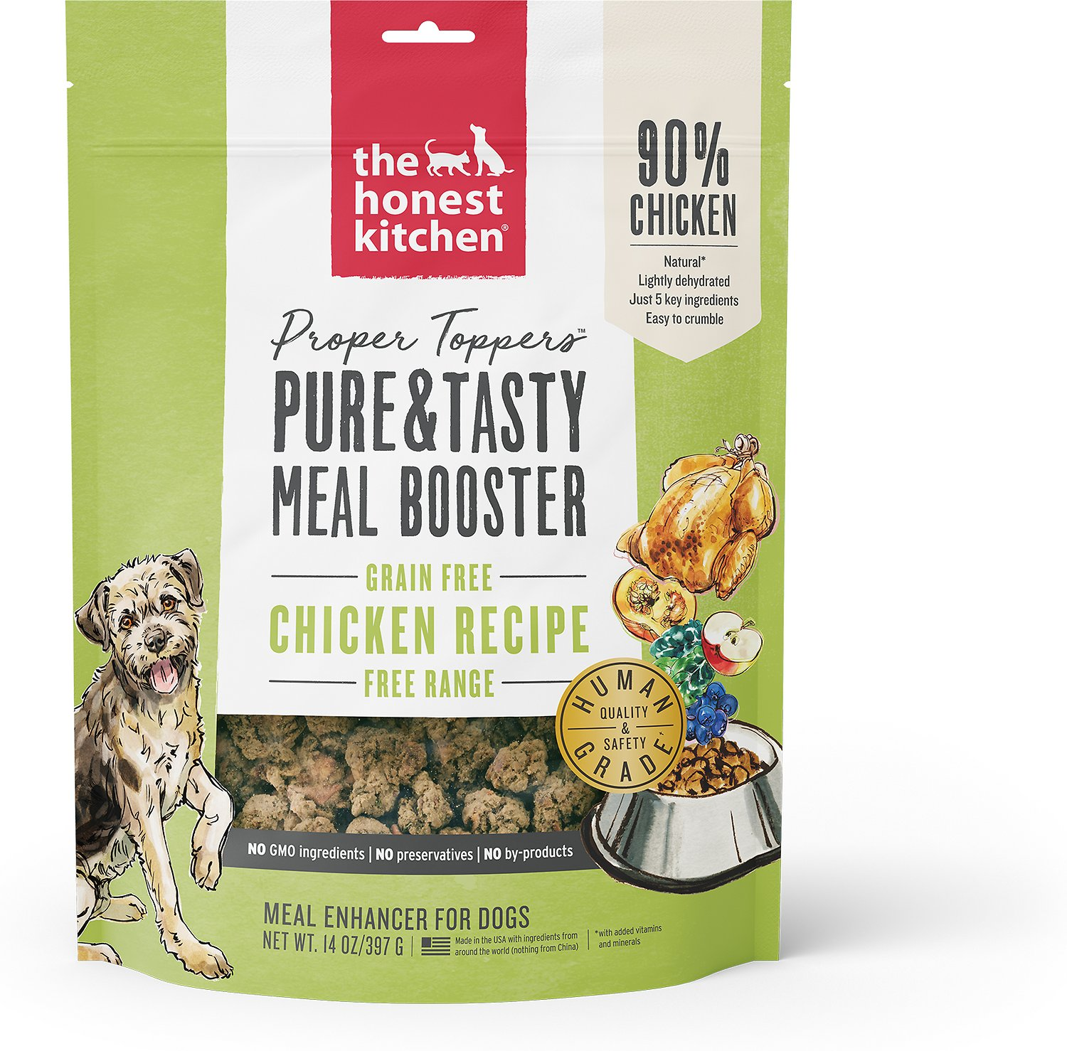 Attirant The Honest Kitchen Proper Toppers Grain Free Chicken Recipe Dog Food  Topper, 14 Oz Bag   Chewy.com