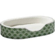 MidWest Quiet Time E' Sensuals Teflon Geometric Orthopedic Nesting Pet Bed, Green, 29-inch