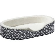 MidWest Quiet Time E' Sensuals Teflon Geometric Orthopedic Nesting Pet Bed, Gray, 35-inch