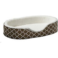 MidWest Quiet Time e�Sensuals Teflon Geometric Orthopedic Nesting Pet Bed, Brown, 28-in