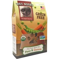 Wet Noses Grain Free Peas & Carrots Dog Treats, 14-oz box