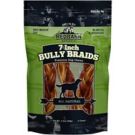 "Redbarn Naturals Braided Bully Sticks 7"" Dog Treats, 3 count"