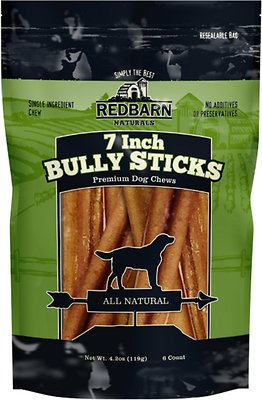 redbarn naturals bully stick 7 dog treat 6 count. Black Bedroom Furniture Sets. Home Design Ideas