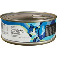 Solid Gold July Morning Classic Pate Chicken, Turkey, Ocean White Fish & Liver Recipe Canned Cat Food, 5.5-oz, case of 8
