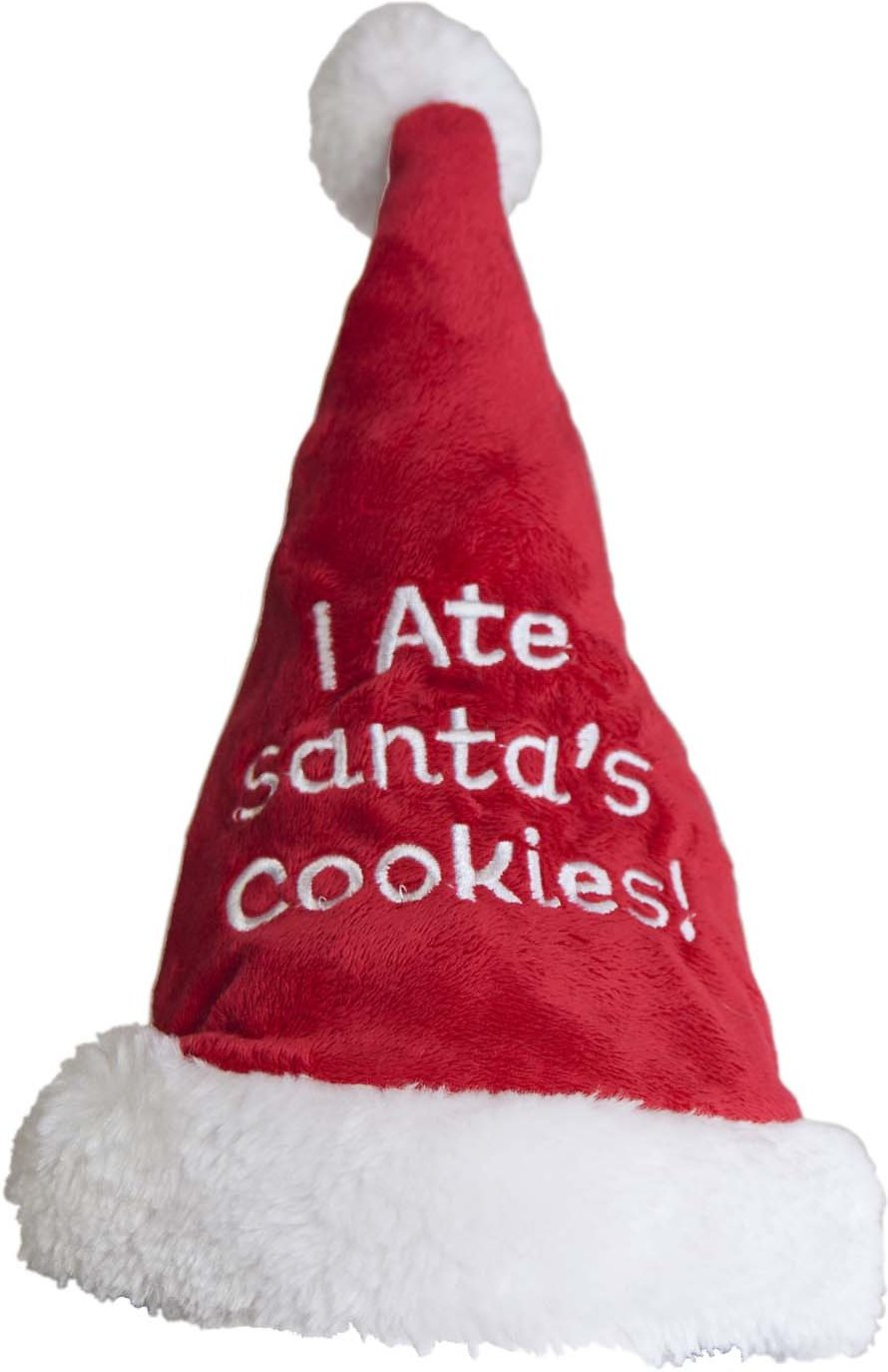 video  sc 1 st  Chewy.com & Outward Hound Holiday I Ate the Cookies Santa Hat Dog Costume Large ...