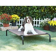 Frisco Steel-Framed Elevated Pet Bed, Brown, Medium
