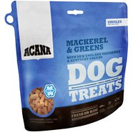 ACANA Mackerel & Greens Singles Formula Dog Treats, 1.25-oz bag