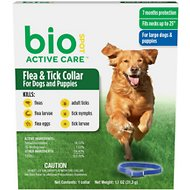 Bio Spot Active Care Flea & Tick Collar for Dogs, Large