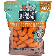 Howl's Kitchen Sweet Potato Bagels Dog Treats, 30 count