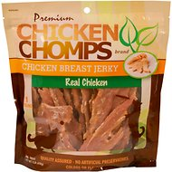 Premium Chicken Chomps Chicken Breast Jerky Dog Treats, 1-lb bag