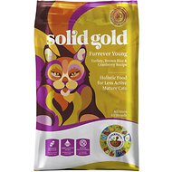 Solid Gold Furrever Young Turkey, Brown Rice & Cranberry Recipe Dry Cat Food, 12-lb bag