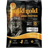 Solid Gold High Protein Grain-Free Chicken Recipe Adult Dry Cat Food, 5-lb bag