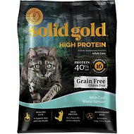 Solid Gold High Protein Grain-Free Salmon Recipe Adult Dry Cat Food, 10-lb bag