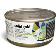 Solid Gold Evening Tide Classic Pate in Gravy with Tuna & Sardine Grain-Free Canned Cat Food, 3-oz, case of 12