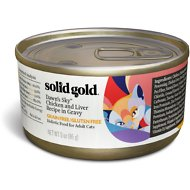 Solid Gold Dawn's Sky Chicken & Liver Recipe in Gravy Grain-Free Canned Cat Food, 3-oz, case of 12