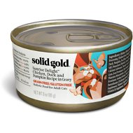Solid Gold Sunrise Delight Chicken, Duck & Pumpkin Recipe in Gravy Grain-Free Canned Cat Food, 3-oz, case of 12