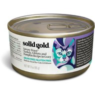 Solid Gold Savory Feast Turkey, Giblets & Pumpkin Recipe in Gravy Grain-Free Canned Cat Food, 3-oz, case of 12