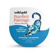 Solid Gold Purrfect Pairings Savory Mousse with Chicken & Goat Milk Grain-Free Cat Food Cups, 2.75-oz, case of 6