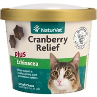 NaturVet Cranberry Relief Plus Echinacea Cat Soft Chews, 60-count