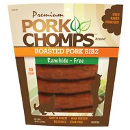 Premium Pork Chomps Roasted Pork Ribz Dog Treats, 10 count