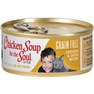 Chicken Soup for the Soul Chicken & Duck Recipe Grain-Free Canned Cat Food, 5.5-oz, case of 24