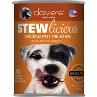 Dave's Pet Food Stewlicious Grain-Free Chicken Pot Pie Stew Canned Dog Food, 13-oz, case of 12