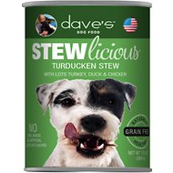Dave's Pet Food Stewlicious Grain-Free Turducken Stew Canned Dog Food, 13-oz, case of 12