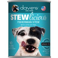 Dave's Pet Food Stewlicious Grain-Free Fisherman Stew Canned Dog Food, 13-oz, case of 12