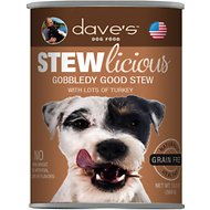 Dave's Pet Food Stewlicious Grain-Free Gobbledy Good Stew Canned Dog Food, 13-oz, case of 12