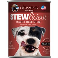 Dave's Pet Food Stewlicious Grain-Free Hearty Beef Stew Canned Dog Food, 13-oz, case of 12