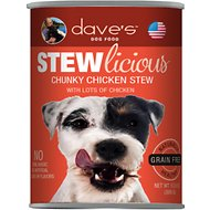 Dave's Pet Food Stewlicious Grain-Free Chunky Chicken Stew Canned Dog Food, 13-oz, case of 12
