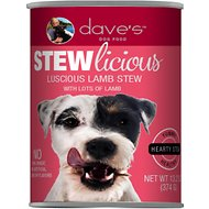 Dave's Pet Food Stewlicious Luscious Lamb Stew Canned Dog Food, 13.2-oz, case of 12