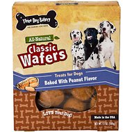 Three Dog Bakery Classic Wafers Peanut Butter Dog Treats, 13-oz box